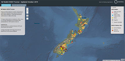 NZ Rabbit RHDV Tracker