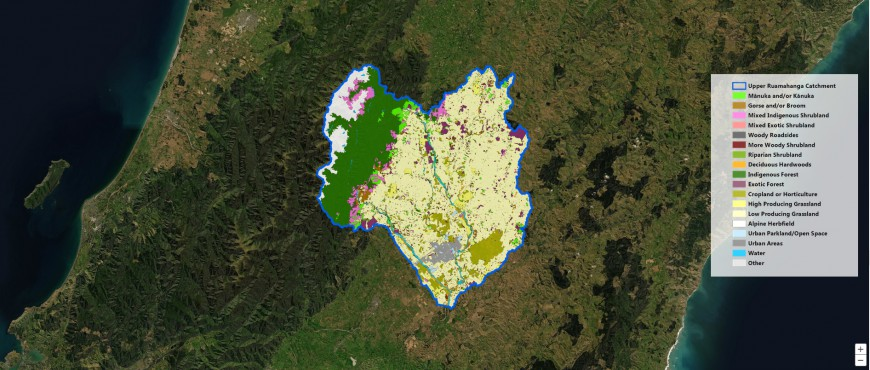 Spatial model for mapping the monthly nectar and pollen production, Upper Ruamahanga catchment, Wairarapa.