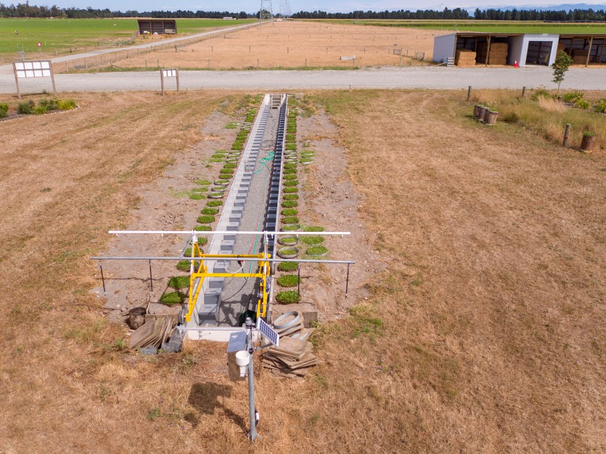 Aerial view of the lysimeter facility (Bradley White)