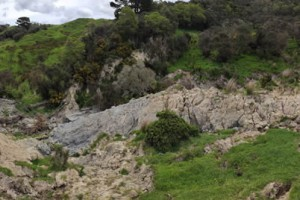 Extensive earthflow in the upper Tiraumea catchment a tributary of the Manawatu River.