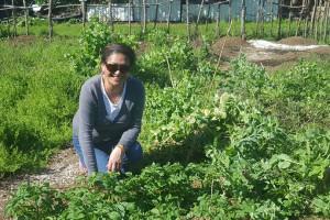 Hema Wihongi in the organic community garden