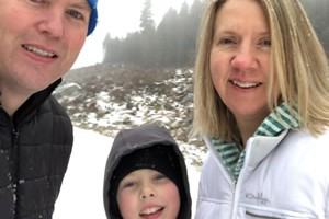 Hester and her family in Canada