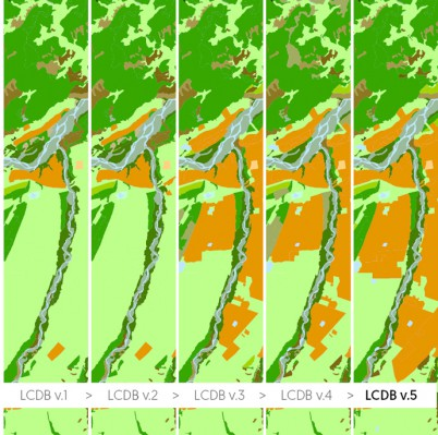 Progressive improvements in land-cover mapping have been made with each new version of the LCDB