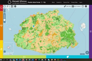 Soil map of Fiji showing land use capability classes