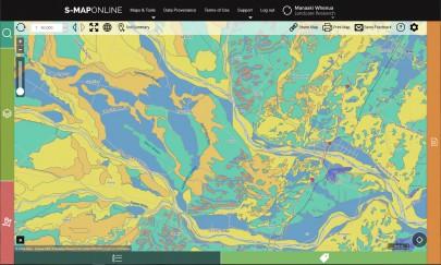 Map showing soil moisture near Waipawa, Central Hawke's Bay