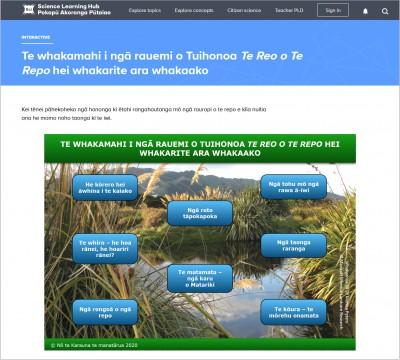 Tuihonoa Te Reo o Te Repo – online bilingual wetland educational resources