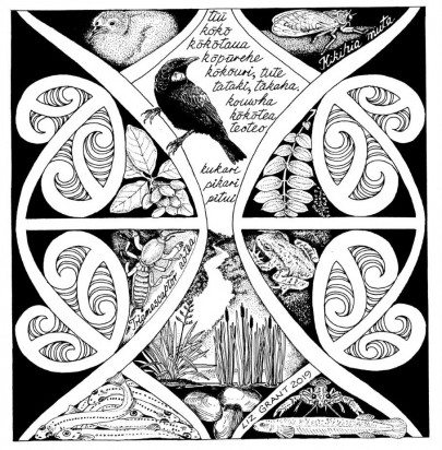 NZ Journal of Ecology special issue cover, 'Mātauranga Māori and shaping ecological futures'.