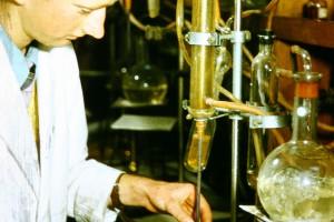 W. Owers testing soil samples