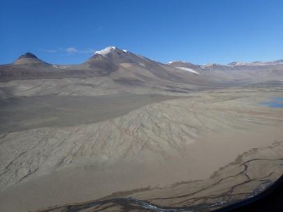 Figure 1: Soil sampling in the McMurdo Dry Valleys.