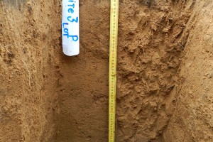 Fig 2. A soil pit of an allophanic soil under pasture.
