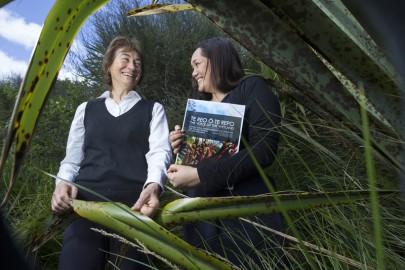 Bev Clarkson and Yvonne Taura say the online handbook will help those undertaking wetland restoration.