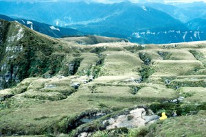 Sink holes (and cracks in karst), Garibaldi Ridge, NW Nelson (Peter Williams)